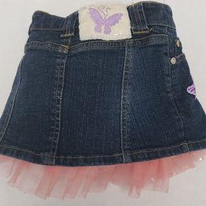 Disney Bottoms - Disneystore Fairies Ruffle Jean Skirt